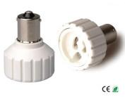 E-Simpo 10-pack BA15S to Gu10 Adapter,BA15S to Gu10 Lamp Base Converter,PBT, Z1095