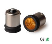 E-Simpo 12-pack BA15S to E14 Adapter,BA15S to E14 Lamp Base Converter,Copper, Z1092