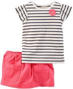 Carter's Carter's Baby Girls 2 Pc Playwear Sets 239g353, Stripe, 24 Months Baby
