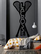 Wall Decal Sticker Bedroom lacrosse logo sport school kids girls teenager boys room 309b