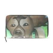 SCDS Watercolour Dog Ladies Wallet Long Purse Hand Bag Notecase