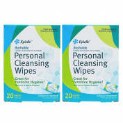 Epielle Personal Cleansing Wipes-20ct
