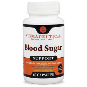 Premium Blood Sugar Support Supplement - Normal Blood Glucose & Natural Weight Control - Vitamin and Herb Extract Formula with Cinnamon, White Mulberry Leaf, Bitter Melon, ALA & Chromium - 60 Capsules