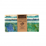 Timeless Treasures Tonga Batik Surf 25cm Squares Half Pack