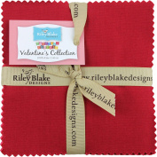 Confetti Cottons Valentines 13cm Stacker 42 13cm Squares Charm Pack Riley Blake Designs 5-VA120-42