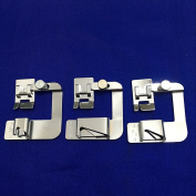 YEQIN Snap On Adjustable Rolled Hemmer Foot Choose 2.5cm ,1.3cm or 1.9cm For Singer Brother Babylock Juki Janome