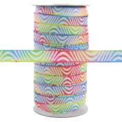100 Yards - Rainbow Swirl - 1.6cm Fold Over Elastic - ElasticByTheYard