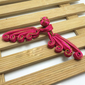 Lyracces Sewing Fasteners knotting crooked swirl satin Fabric Chinese decorative knots Cheongsam Frogging Button 5pairs