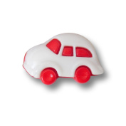Button Paradise Sewing Buttons - Set of 5 Cute Plastic Buttons for Children or Costumes, Volkswagen Beetle Design - Colour