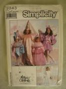 Simplicity 9343 Costume Pattern Jester, Princess, Bride & Fairy Child Sz 3-14