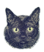 Amazing Custom Cat Portraits[Burmese Cat Face ] Embroidered Iron On/Sew patch [10cm x 7.6cm ]Made in USA]