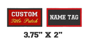 Custom Embroidered Name Tag Motorcycle Biker Sew on Patch 9.5cm x 5.1cm