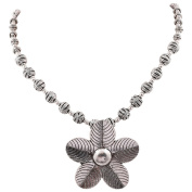 Jewel Fab Art Silver Plated Design flowers Shape Necklace Jewellery