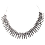 Jewel Fab Art Marvellous Quality Silver Plated Beads Necklace Jewellery For Woman Gifted