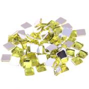 Nizi Jewellery 2mm 4mm 6mm Light Yellow Colour Square Flatback Acrylic Rhinestones Shiny Stones Nail Rhinestone