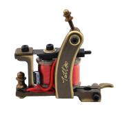 HoriKing Tattoo Supply Tattoo Machine Gun 12 Wrap Red Coils High Quality CNC Carved Copper Liner Personal Care Beauty Body Art Supply