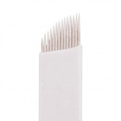 VideoPUP(TM) Permanent Makeup Manual Eyebrow 50pcs Microblade 14 Sloped Tattoo Needle