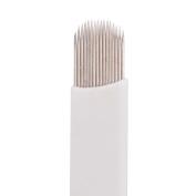 VideoPUP(TM) 50pcs Microblade 16 Sloped Needle, Permanent Makeup Manual Eyebrow Tattoo Needle
