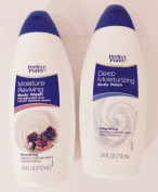 2pck - Perfect Purity Deep Moisturising Body Wash and Pomegranate and Lemon Verbena Scent Body Wash 710ml
