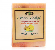Aloe Veda Luxury Butter Bar - Orange & Ginger, 100 gm