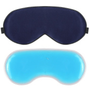 Plemo Silk Eye Mask with Ice Pack