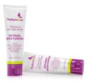 Skin Care Anti-Ageing Wrinkle Treatment, Retinol Face Moisturising Cream By Naturalico -67% Organic Synthesis Of 2.5% Retinol, Botanical Hyaluronic Acid & Vitamins - For Day & Night Use - 120ml