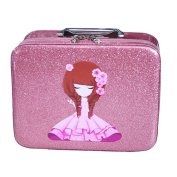 Cosmetics Case Makeup Train Case Cosmetics Organiser Beauty Case -Pink