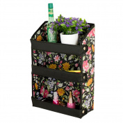 Fashion Wall Shelf Cosmetic folding Display Organiser Buggy Bags Black Flowers