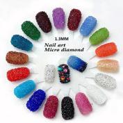 .   Micro Diamond DIY Rhinestones Crystal Flat Back Non Hotfix Rhinestones Need Glue Nail Art Decoration 07 Lake blue