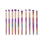 Makeup Brushes Sets, Fullkang Super Soft 10PCS Cosmetic Makeup Brush Eyeshadow Brush