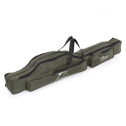 Docooler Portable Folding Fishing Rod Carrier Canvas Fishing Pole Tools Storage Bag Case Fishing Gear Tackle