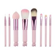 Makeup Brush, Fullkang Cute Hello KItty 8PCS Makeup Brush Set Foundation Eyebrow Eyeliner Blush Cosmetic Concealer Brushes Pink