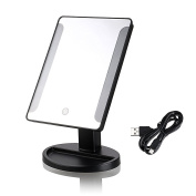 Led Mirror Vanity USB Rechargeable Makeup Mirror Elegant Perfect Lignts Adjustable Position For Makeup With 38 Led Lights Black