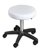 Stool Chair WHITE TERRELL Multi-Use Pneumatic, Adjustable & Rolling