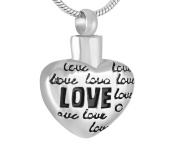 Casket Etcetera Heart Full Of Love Cremation Jewellery Urn Necklace Pendant For Women