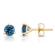 Noray Designs 14K White or Yellow Gold London Blue Topaz Stud Earrings