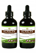 Secrets of the Tribe Alfalfa Alcohol Liquid Extract, Organic Alfalfa (Medicago Sativa) Dried Leaf