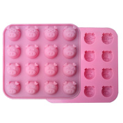 VolksRose Silicone Mould for Chocolate, Jelly and Candy etc - Random colours - 16 Funny Pig