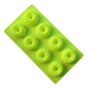 VolksRose Silicone Mould for Chocolate, Jelly and Candy etc - Random colours - 8 Cookies
