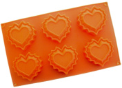 VolksRose Silicone Mould for Chocolate, Jelly and Candy etc - Random colours - Romantic hearts