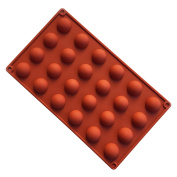 VolksRose Silicone Mould for Chocolate, Jelly and Candy etc - Random colours - 24 Round Ball