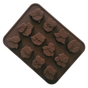 VolksRose Silicone Mould for Chocolate, Jelly and Candy etc - Random colours-Cute OWL