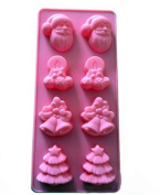 VolksRose Silicone Mould for Chocolate, Jelly and Candy etc - Random colours-Socks Snowman Christmas Bells Christmas Tree