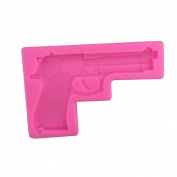 Efivs Arts Gun Pistol 3D Soft Silicone Cake Decorating Fondant Sugar Craft Moulds Candy Chocolate Mould