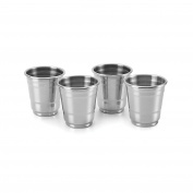 Outset 76426 Chillware Shot Glasses, Stainless Steel, Set of 4, , Not Applicable