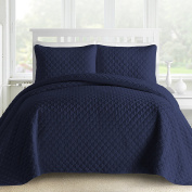 Oversized and Prewashed Comfy Bedding Lantern Ogee Quilted 3-piece Bedspread Coverlet Set