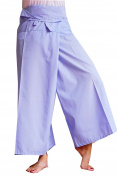 Light Blue Fisherman Yoga Pants Comfortable for Exercise, Relaxation