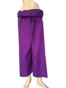 Rayon Fabric Solid Purple Colour Yoga Trousers Thai Fisherman Pants Lululemon Pants Free Size