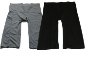 Cute Sauna Pants Yoga Trousers Thai Fisherman Pants Lululemon Pants Free Size Cotton Pack 2 Solid Charcoal and Black