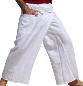 RaanPahMuang Light Thin Muslin Cotton Thailand Fisherman Wrap Pants